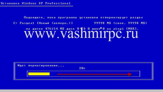 Как установить windows xp с флеш